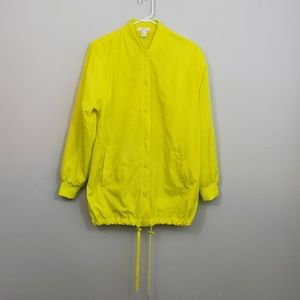 Forever 21 Yellow Los Angeles Long Wind Breaker
